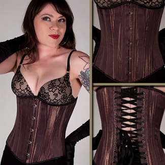 Liquid chocolate satin underbust $99