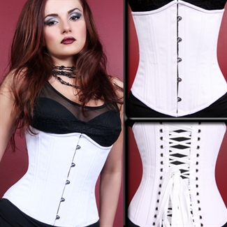 White Cotton Underbust